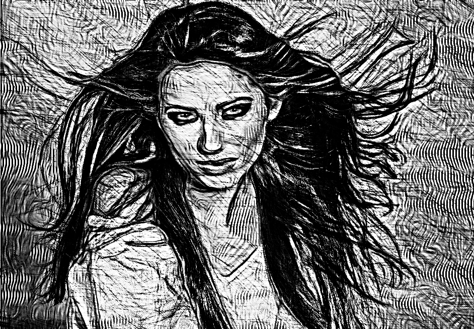 Pretty girl.Crazy Hedcut.Grayscale.jpg