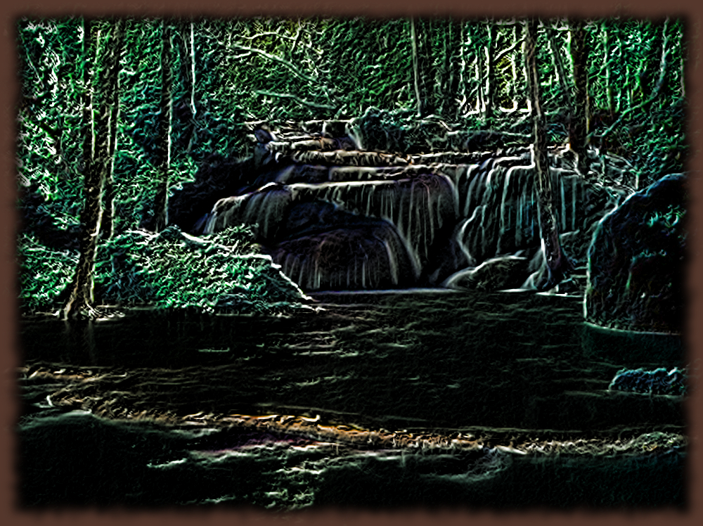 Waterfalls.Pencil Coloring Over Black Effect.jpg